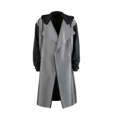 Пальто с капюшоном и без застежки