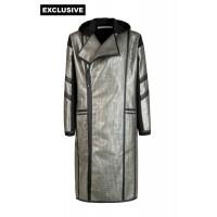 Пальто с капюшоном (пайетки)